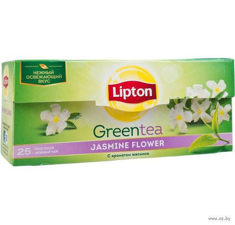 """Чай зеленый """"Lipton. Jasmine Flower"""" (25 пакетиков) — фото, картинка"""
