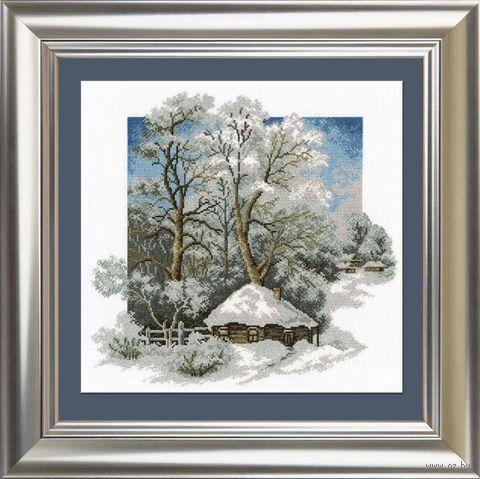 """Вышивка крестом """"Зима в деревне"""" (280х270 мм) — фото, картинка"""