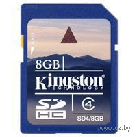 Карта памяти SDHC 8Gb Kingston Class 4