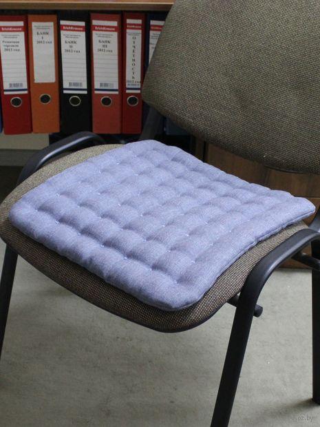 """Подушка на стул """"Ecology"""" (40х40 см; серо-голубая) — фото, картинка"""