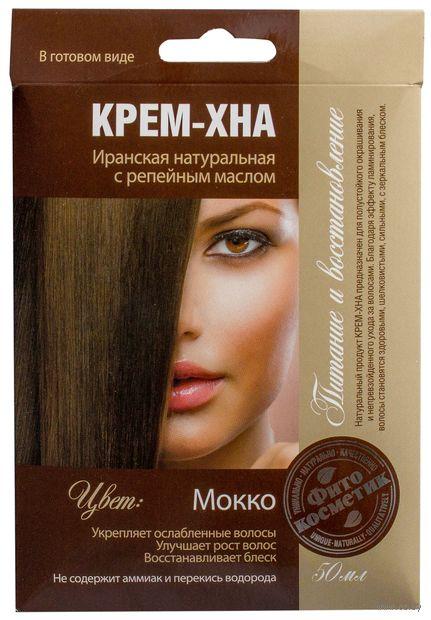 """Оттеночная крем-хна для волос """"Питание и восстановление"""" (тон: мокко; 50 мл) — фото, картинка"""