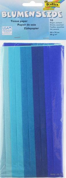 Бумага папиросная (голубой микс; 500х700 мм; 10 листов)