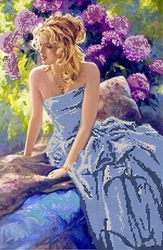 """Канва с нанесенным рисунком """"Голубые мечты"""""""