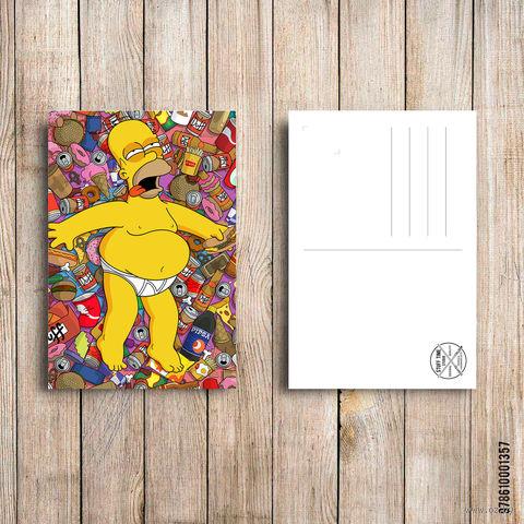 """Открытка """"Гомер Симпсон"""" (арт. 357) — фото, картинка"""