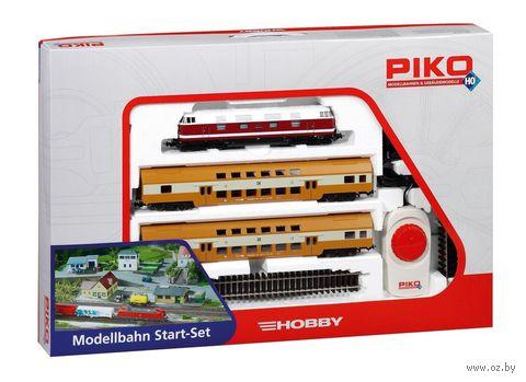 """Железная дорога """"Пассажирский поезд с двухэтажными вагонами"""" — фото, картинка"""