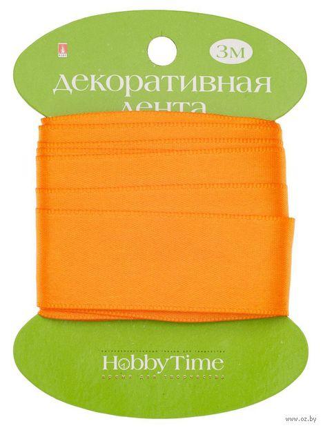"""Лента атласная """"Hobby Time"""" (оранжевая; 25 мм; 3 м) — фото, картинка"""