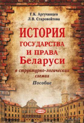 История государства и права Беларуси в структурно-логических схемах. Пособие — фото, картинка