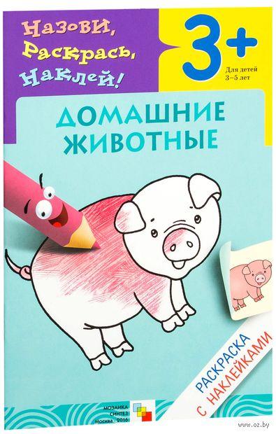 Домашние животные. Раскраска с наклейками. Для детей 3-5 лет. Лариса Бурмистрова, Виктор Мороз