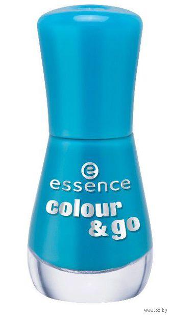 Лак для ногтей colour & go, голубой (№ 128; 8 мл) — фото, картинка
