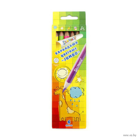 "Набор карандашей цветных ""Jumbo. Emotions Сreative"" (6 цветов)"