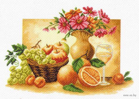 """Канва с нанесенным рисунком """"Оранжевый натюрморт"""""""