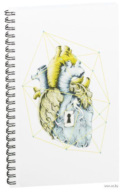 """Блокнот в клетку """"Сердце"""" (A5; арт. 719) — фото, картинка"""