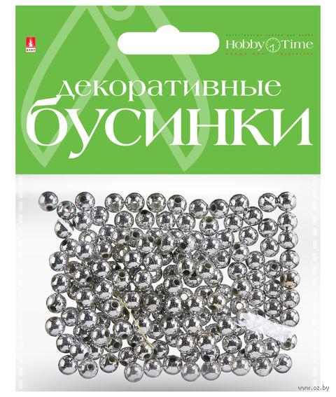 Набор бусин декоративных (6 мм; серебряные) — фото, картинка