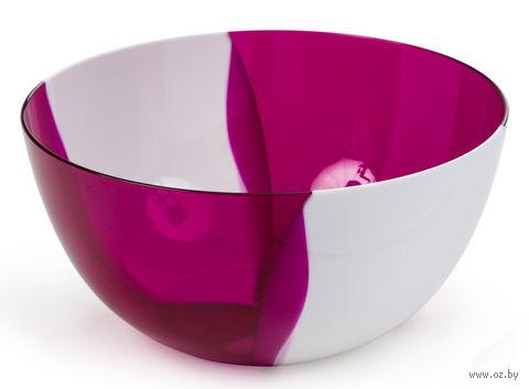 "Салатник двухцветный ""Dolce"" (0,7 л; гранат) — фото, картинка"