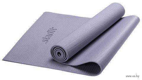 """Коврик для йоги """"FM-101"""" (173x61x1 см; серый) — фото, картинка"""