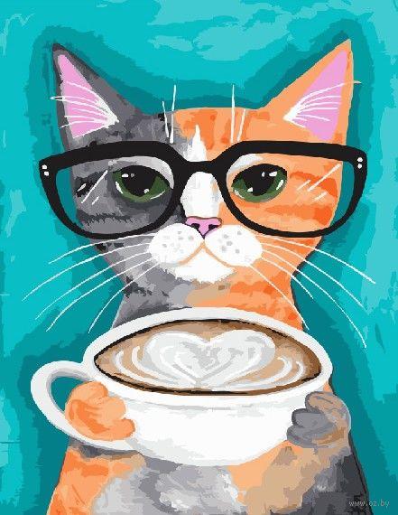 "Картина по номерам ""Позитивный кот"" (400х500 мм) — фото, картинка"