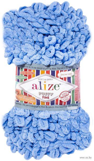 "Пряжа ""ALIZE. Puffy Fine №112"" (100 г; 14 м; голубой) — фото, картинка"