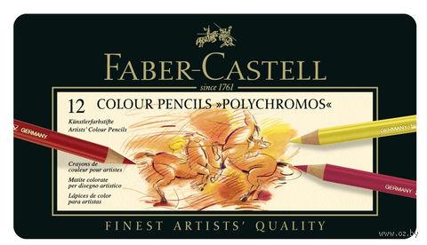 Цветные карандаши POLYCHROMOS® (12 цветов)
