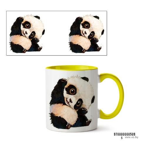"""Кружка """"Панда"""" (желтая)"""