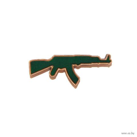 """Значок деревянный """"АК"""" (зеленый)"""