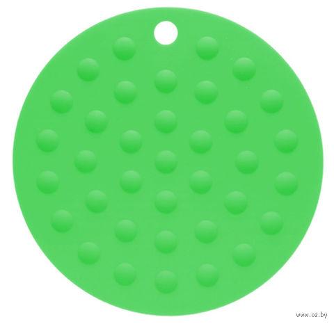 Подставка под горячее силиконовая (175x2 мм; темно-зеленый) — фото, картинка