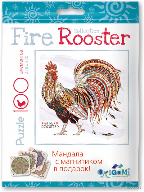 """Пазл """"Fire Rooster"""" (100 элементов) — фото, картинка"""