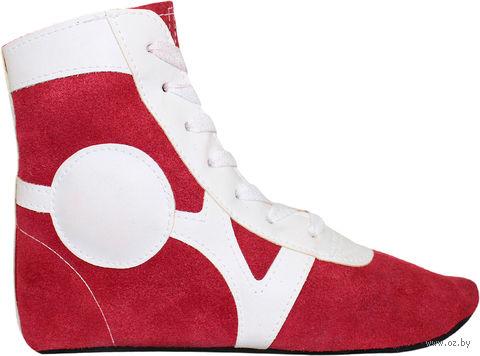 Обувь для самбо SM-0101 (р. 31; замша; красная) — фото, картинка