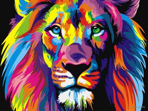 """Картина по номерам """"Царь зверей"""" (300х400 мм) — фото, картинка"""