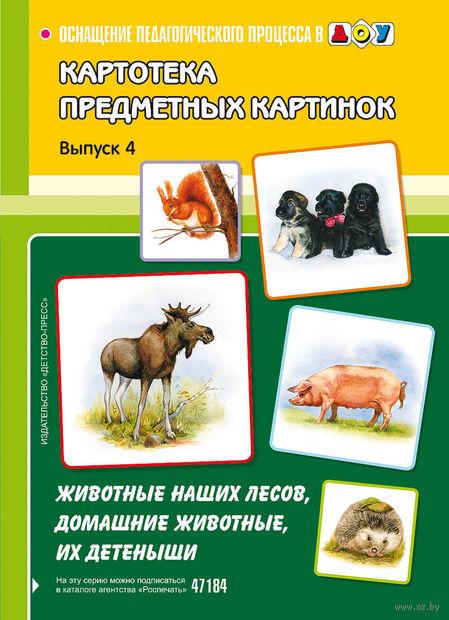 Картотека предметных картинок. Выпуск 4. Животные наших лесов, домашние животные, их детеныши. Наталия Нищева