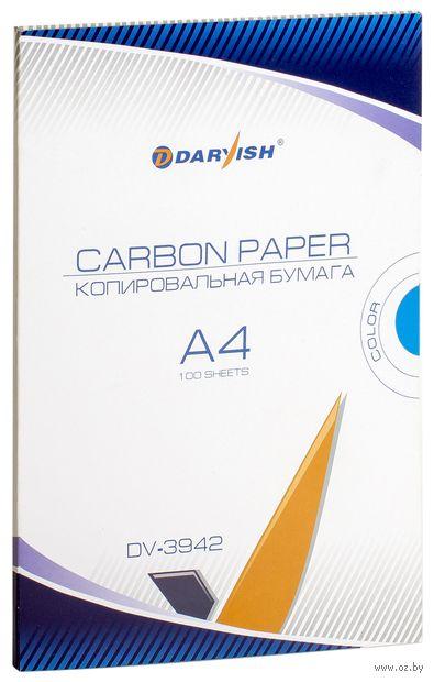 """Бумага копировальная """"Darvish"""" (100 листов; синяя) — фото, картинка"""