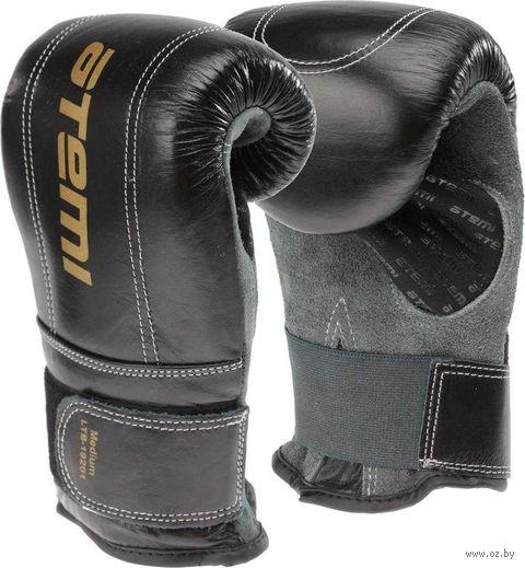 Перчатки снарядные LTB19201 (S; кожа; чёрно-серые) — фото, картинка