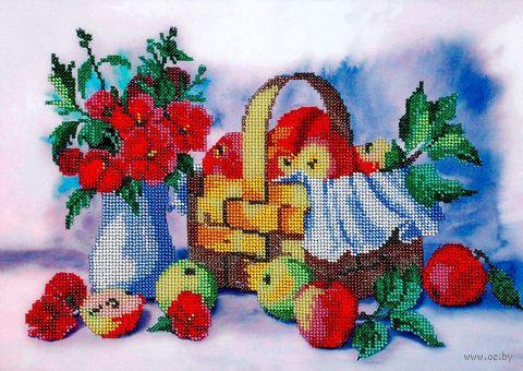 """Вышивка бисером """"Лукошко яблок"""" (350х250 мм) — фото, картинка"""