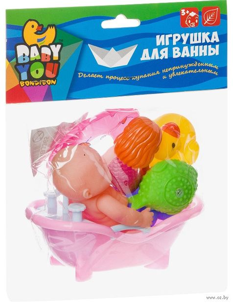 Набор игрушек для купания (7 шт.; арт. ВВ3365) — фото, картинка