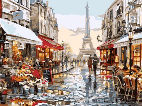 "Картина по номерам ""Париж для двоих"" (300х400 мм) — фото, картинка"