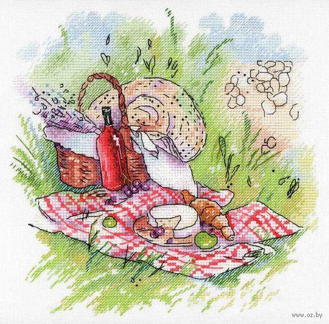 "Вышивка крестом ""Прованский пикник"" (200x200 мм) — фото, картинка"