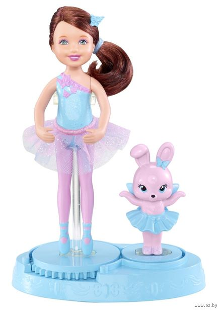 Кукла Барби. Балерина Челси с домашним питомцем (в голубом)
