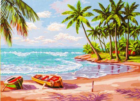 """Картина по номерам """"Райский остров"""" (500x650 мм; арт. MMC005)"""