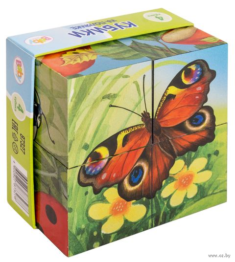 "Кубики ""На полянке"" (4 шт.) — фото, картинка"