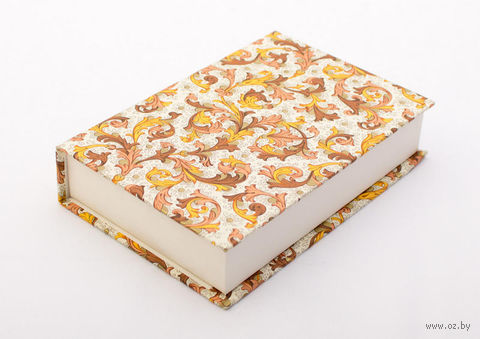 "Подарочная коробка ""Traditional"" (10,5х16х3,5 см; оранжевые элементы) — фото, картинка"