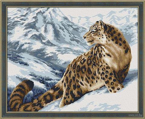 """Картина по номерам """"Снежный барс"""" (400х500 мм) — фото, картинка"""