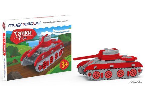 """Сборная модель """"Танк Т-34"""" (10 деталей) — фото, картинка"""