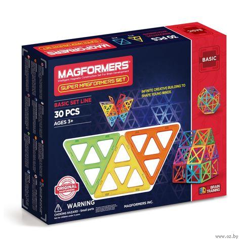 """Магнитный конструктор """"Super Magformers"""" (30 деталей) — фото, картинка"""
