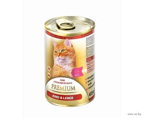 Консервы для кошек (415 г; говядина и печень) — фото, картинка