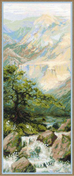 """Вышивка крестом """"Горная река"""" (200х500 мм) — фото, картинка"""