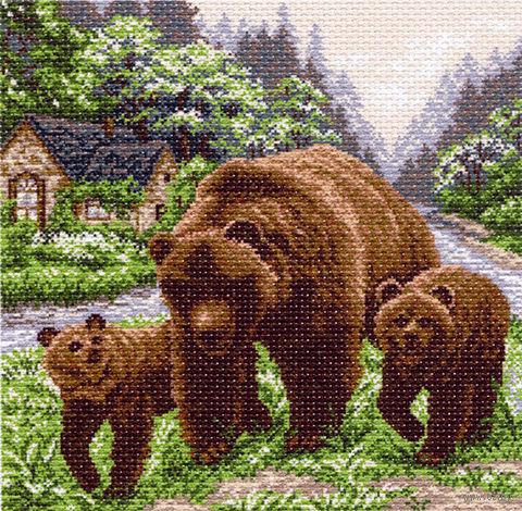 """Канва с нанесенным рисунком """"Медвежий угол"""""""