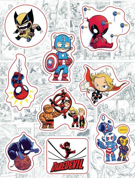 "Набор виниловых наклеек №159 ""Marvel"""