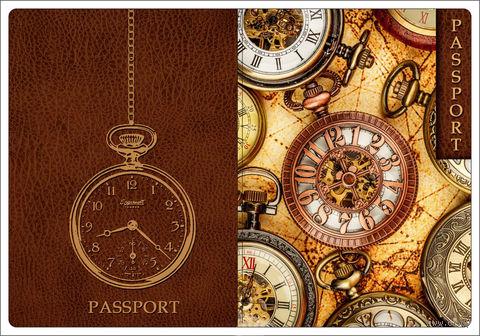"""Обложка для паспорта """"Хронографы"""" (арт. 44511) — фото, картинка"""