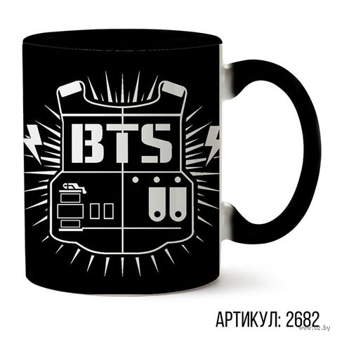 "Кружка ""BTS"" (черная; арт. 2682) — фото, картинка"