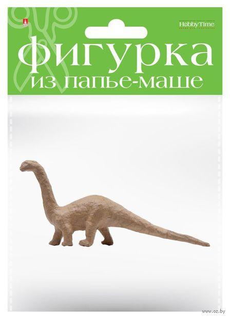 "Заготовка из папье-маше ""Динозавр. Брахиозавр"" (45х205х100 мм) — фото, картинка"
