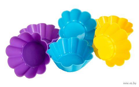 Форма силиконовая для выпекания кексов (6 шт.; 75х75х32 мм) — фото, картинка